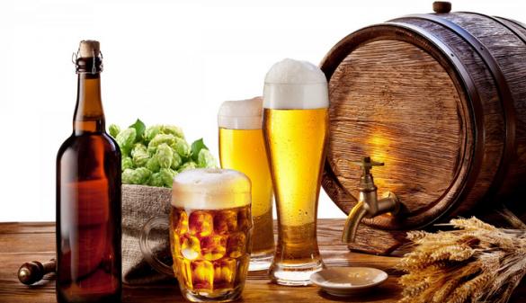 chỉ uống bia khi dạ dày đã có thức ăn, uống bia giảm cân, giảm cân khi uống bia, cách uống bia giảm cân,