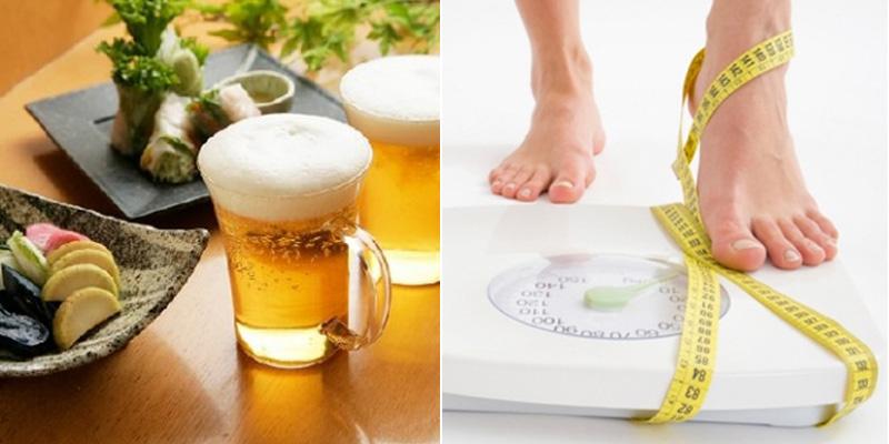 Uống bia có giảm cân không, giảm cân bằng cách uống bia, uống bia giảm cân, cách uống bia giảm cân